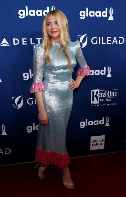 Actor Chloe Grace Moretz poses at the 29th Annual GLAAD Media Awards in Beverly Hills, California, U.S., April 12, 2018. (Photo by Mario Anzuoni/Reuters)