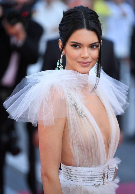 "Kendall Jenner attends the screening of ""Girls Of The Sun (Les Filles Du Soleil)"" during the 71st annual Cannes Film Festival at Palais des Festivals on May 12, 2018 in Cannes, France. (Photo by James Gourley/Rex Features/Shutterstock)"