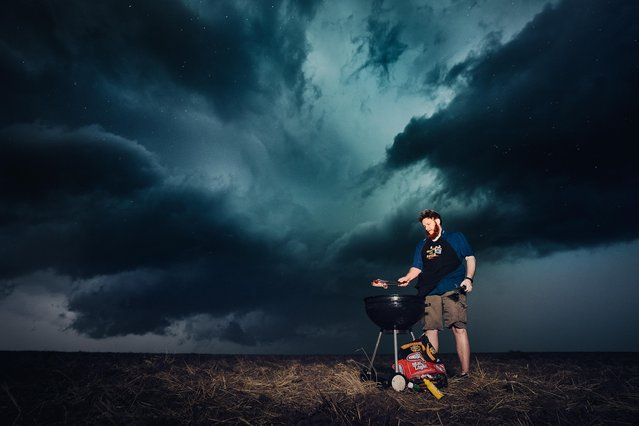 During their travels Ben and his team were able to capture everything from lightning strikes to tornadoes. (Photo by Benjamin Von Wongs/Caters News)