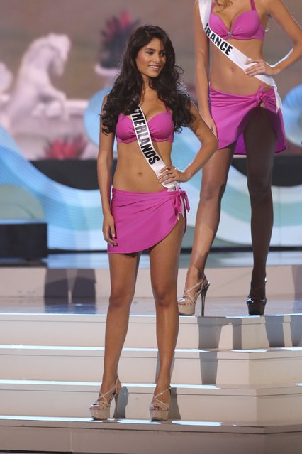 Miss Netherlands Yasmin Verheijen onstage during The 63rd Annual Miss Universe Pageant at Florida International University on January 25, 2015 in Miami, Florida. (Photo by Alexander Tamargo/Getty Images)