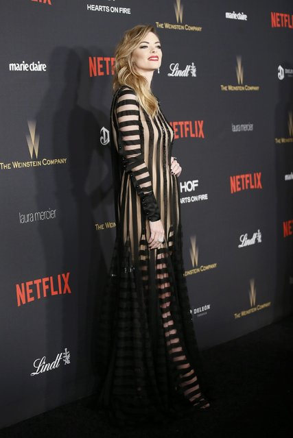 Actress Jaime King arrives at The Weinstein Company & Netflix Golden Globe After Party in Beverly Hills, California January 10, 2016. (Photo by Danny Moloshok/Reuters)