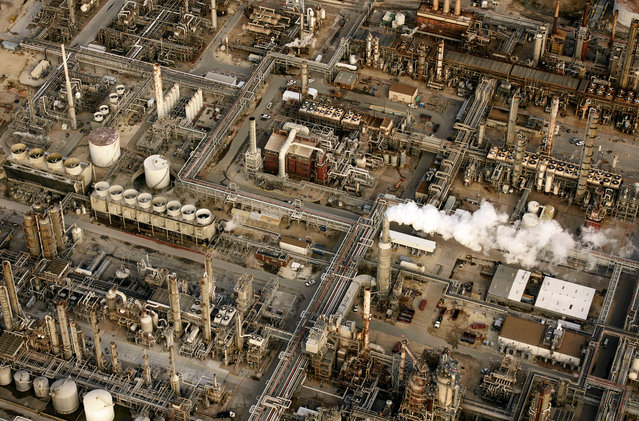 Massive oil refiner in Houston, Texas. (Photo by Jassen Todorov/Caters News)