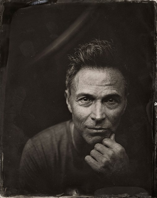Tim Daly poses for a tintype (wet collodion) portrait at The Collective and Gibson Lounge Powered by CEG, during the 2014 Sundance Film Festival in Park City, Utah. (Photo by Victoria Will/AP Photo/Invision)