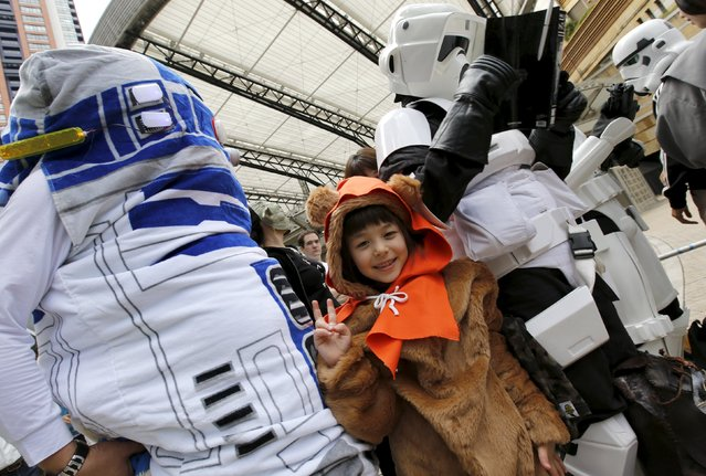 Cosplayers dressed up as Star Wars characters take part in a Star Wars Day fan event in Tokyo May 4, 2015. (Photo by Toru Hanai/Reuters)