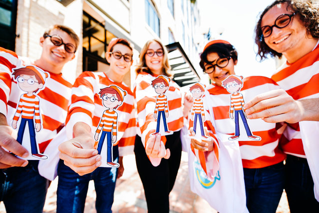 Cosplayers dressed as Waldo attend the 2019 Comic-Con International on July 20, 2019 in San Diego, California. (Photo by Matt Winkelmeyer/Getty Images)