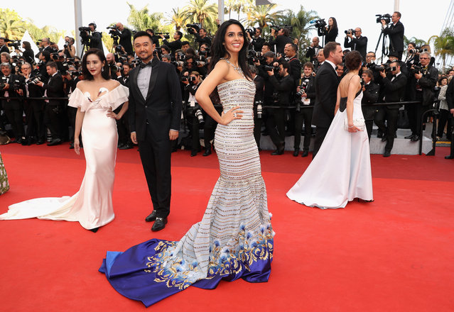 """Mallika Sherawat attends the """"Cafe Society"""" premiere and the Opening Night Gala during the 69th annual Cannes Film Festival at the Palais des Festivals on May 11, 2016 in Cannes, France. (Photo by Andreas Rentz/Getty Images)"""