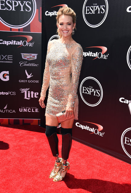 Snowboarder Amy Purdy attends The 2015 ESPYS at Microsoft Theater on July 15, 2015 in Los Angeles, California. (Photo by Steve Granitz/WireImage)