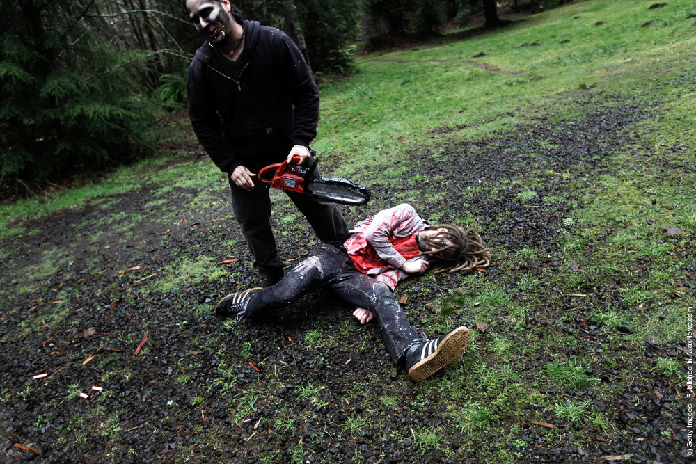 "Zombie ""Survival Class"" Held In Oregon Forest"