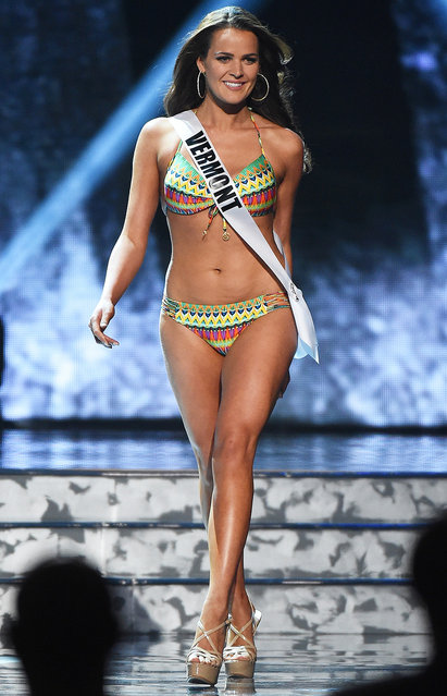 Miss Vermont USA Neely Fortune competes in the swimsuit competition during the 2016 Miss USA pageant preliminary competition at T-Mobile Arena on June 1, 2016 in Las Vegas, Nevada. (Photo by Ethan Miller/Getty Images)