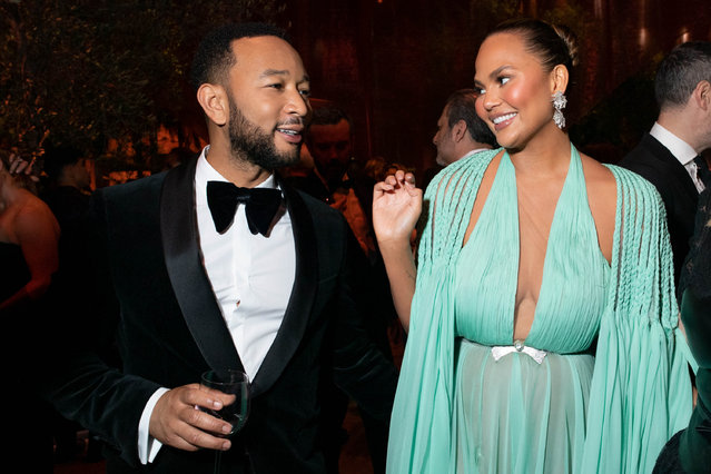 John Legend and Chrissy Teigen attend the 2020 Vanity Fair Oscar Party hosted by Radhika Jones at Wallis Annenberg Center for the Performing Arts on February 09, 2020 in Beverly Hills, California. (Photo by Emma McIntyre/VF20/WireImage)