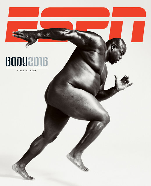 Houston Texans' nose tackle Vince Wilfork. (Photo by Peter Hapak for ESPN The Magazine Body Issue)