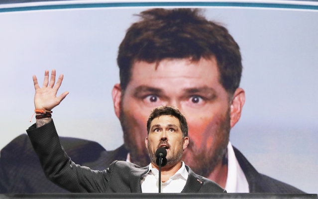 Former U.S. Navy Seal Marcus Luttrell speaks at the Republican National Convention in Cleveland, Ohio, U.S. July 18, 2016. (Photo by Brian Snyder/Reuters)