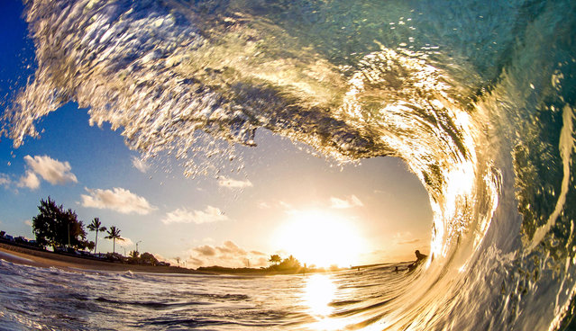 Sandys wave. (Photo by Kenji Croman/Caters News)
