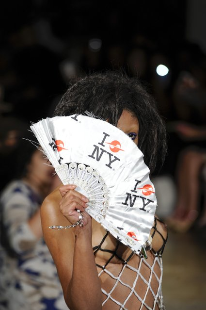 A model walks the runway for Gypsy Sport at Milk Studios on September 15, 2016 in New York City. (Photo by Arun Nevader/Getty Images)