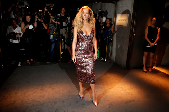 Singer Rita Ora arrives to attend a presentation of Tom Ford's Autumn/Winter 2016 collections during New York Fashion Week in the Manhattan borough of New York, U.S., September 7, 2016. (Photo by Lucas Jackson/Reuters)