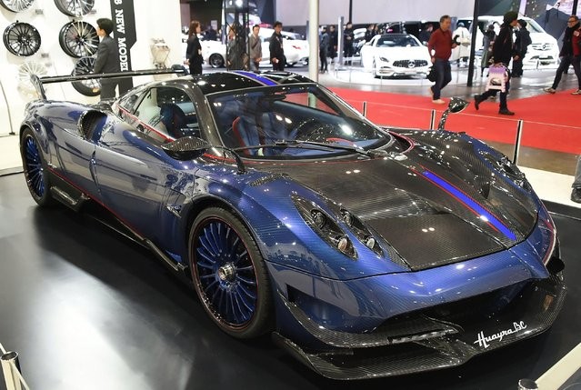 Pagani Huayra BC ($2.5 Million) displayed during Tokyo Auto Salon 2018 at Makuhari Messe on January 12, 2018 in Chiba, Japan. (Photo by Jun Sato/Getty Images)