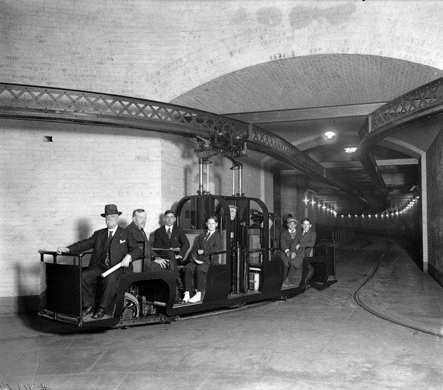 "Senate Subway R.R., circa 1915"". (Photo by Harris & Ewing Collection)"