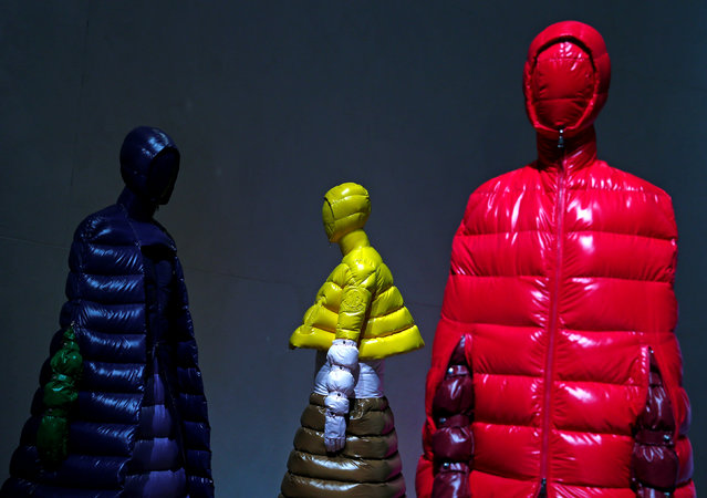 Creations from the Moncler Autumn/Winter 2018 women collection are seen during Milan Fashion Week in Milan, Italy February 20, 2018. (Photo by Tony Gentile/Reuters)