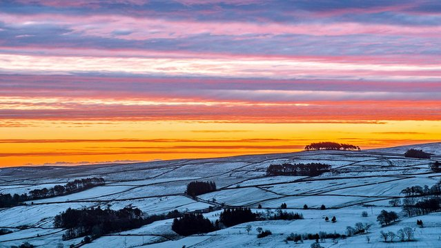 Allendale, Northumberland in United Kingdom awoke under a blanket of snow on January 13, 2021, with more expected this week. (Photo by Will Walker/North News)