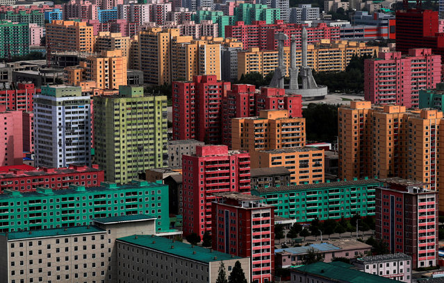 High-rise buildings are seen in Pyongyang, North Korea, September 11, 2018. (Photo by Danish Siddiqui/Reuters)