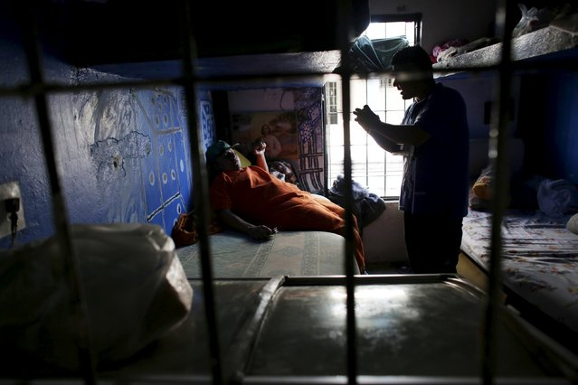 Inmates talk inside their cell in the Topo Chico prison during a media tour in Monterrey, Mexico, February 17, 2016. (Photo by Daniel Becerril/Reuters)