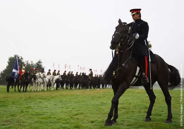 The Household Cavalry Prepare At Floors Castle Ahead Of Massed Pipe Bands Day