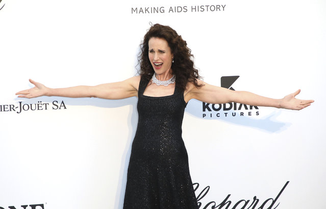 Actress Andie MacDowell poses for photographers upon arrival at the amfAR, Cinema Against AIDS, benefit at the Hotel du Cap-Eden-Roc, during the 72nd international Cannes film festival, in Cap d'Antibes, southern France, Thursday, May 23, 2019. (Photo by Vianney Le Caer/Invision/AP Photo)