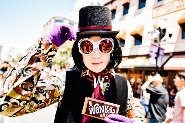 A cosplayer dressed as Willy Wonka attends the 2019 Comic-Con International on July 20, 2019 in San Diego, California. (Photo by Matt Winkelmeyer/Getty Images)