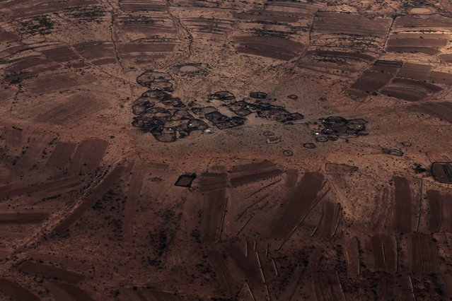An aerial view shows agropastoral settlements outside the capital Hargeisa, Somaliland April 15, 2016. (Photo by Siegfried Modola/Reuters)