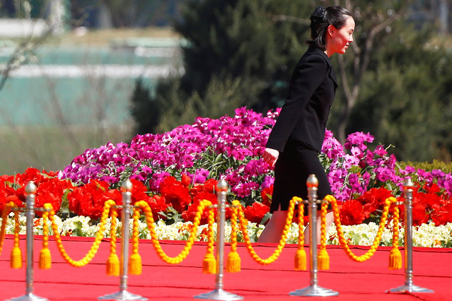 Kim Yo Jong, sister of North Korean leader Kim Jong Un, attends an opening ceremony of a newly constructed residential complex in Ryomyong street in Pyongyang, North Korea April 13, 2017. (Photo by Damir Sagolj/Reuters)