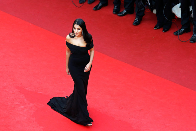 """Leila Bekhti attends the """"Cafe Society"""" premiere and the Opening Night Gala during the 69th annual Cannes Film Festival at the Palais des Festivals on May 11, 2016 in Cannes, France. (Photo by Pool/Getty Images)"""