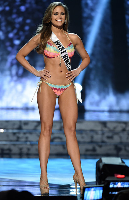 Miss West Virginia USA Nichole Greene competes in the swimsuit competition during the 2016 Miss USA pageant preliminary competition at T-Mobile Arena on June 1, 2016 in Las Vegas, Nevada. (Photo by Ethan Miller/Getty Images)