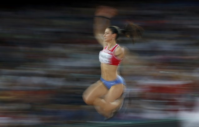 Ivana Spanovic of Serbia competes in the women's long jump final during the 15th IAAF World Championships at the National Stadium in Beijing, China August 28, 2015. (Photo by Phil Noble/Reuters)