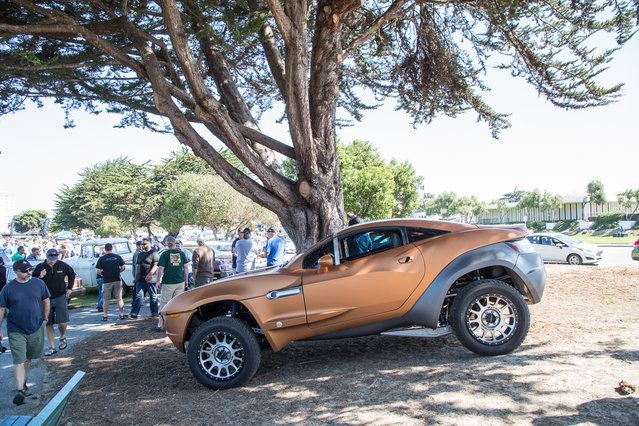 Pro tip: The parking lots at Monterey car week events often have better cars than what's inside, like this Local Motors Rally Fighter just hanging at Lemons. (Photo by Robert Kerian/Yahoo Autos)