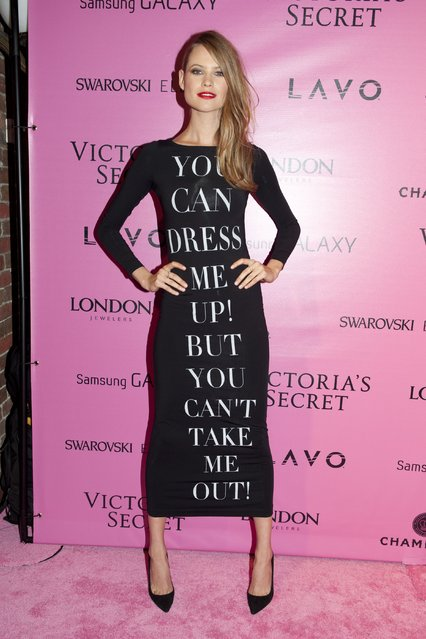 Model Behati Prinsloo attends the after party for the 2012 Victoria's Secret Fashion Show at Lavo NYC on November 7, 2012 in New York City. (Photo by Jim Spellman/WireImage)
