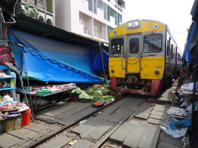 Maeklong Railway Market. (Photo by Fabio Achilli)