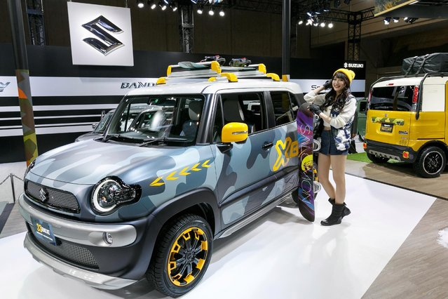 Suzuki Motor Co's XBee Winter Adventure is displayed during the Tokyo Auto Salon at Makuhari Messe on January 12, 2018 in Chiba, Japan. (Photo by The Asahi Shimbun via SplashNews)