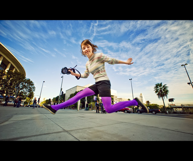 """Jumpology"". ""Lauren – Test Jump"". Los Angeles, USA. (Photo by Ed McGowan)"