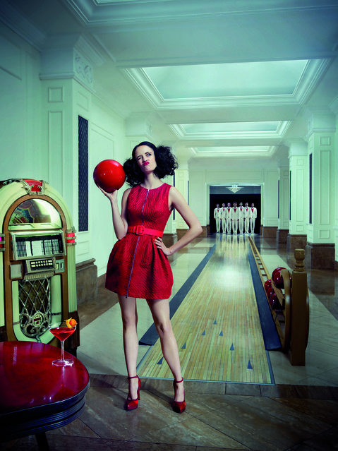 Eva Green poses for the month of August. (Photo by Julia Fullerton-Batten/Campari Calendar 2015)