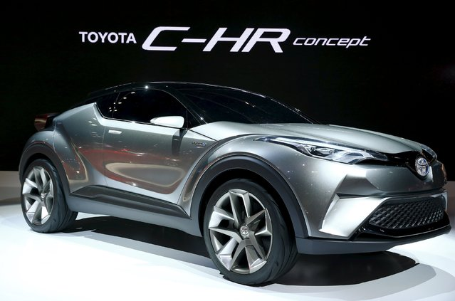 Toyota Motor Corp's C-HR concept car is on display at the 44th Tokyo Motor Show in Tokyo, Japan, October 28, 2015. (Photo by Thomas Peter/Reuters)