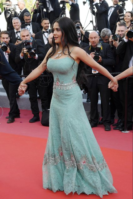 "Actress Salma Hayek attends the screening of ""Girls Of The Sun (Les Filles Du Soleil)"" during the 71st annual Cannes Film Festival at Palais des Festivals on May 12, 2018 in Cannes, France. (Photo by Pascal Le Segretain/Getty Images)"