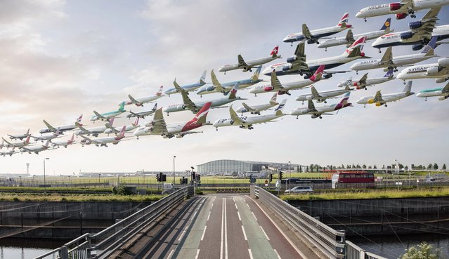 No wonder the locals are worried about there being more planes leaving from Heathrow. (Photo by Mike Kelley/SWINS)