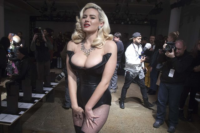 Model Gia Genevieve arrives before The Blonds 2015 collection show during New York Fashion Week, February 19, 2015. (Photo by Carlo Allegri/Reuters)