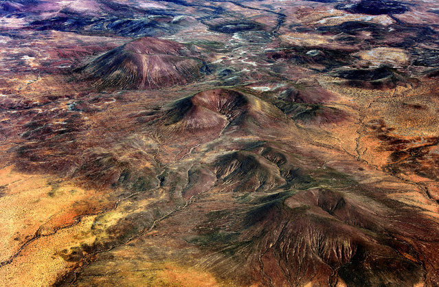 Parts of Arizona look like Mars! Awesome craters in the middle of the red desert. (Photo by Jassen Todorov/Caters News)