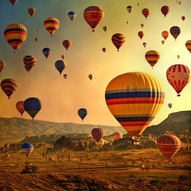 Hot Air Balloon At Cappadocia, Turkey