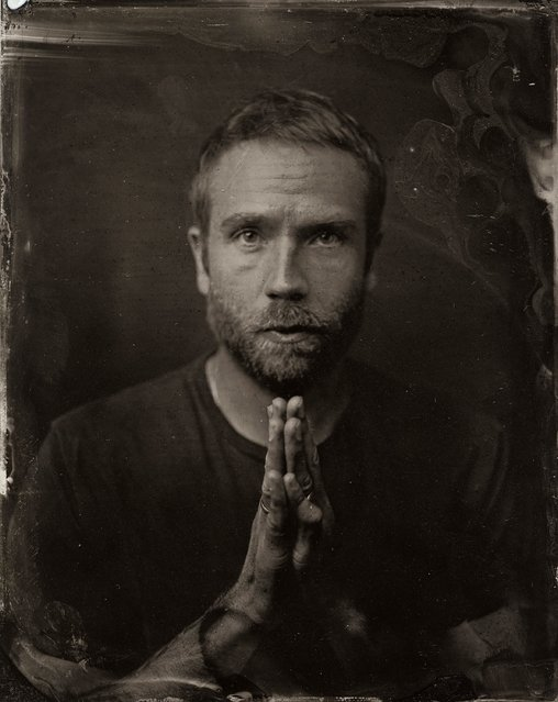 Mark Weber poses for a tintype (wet collodion) portrait at The Collective and Gibson Lounge Powered by CEG, during the 2014 Sundance Film Festival in Park City, Utah. (Photo by Victoria Will/AP Photo/Invision)