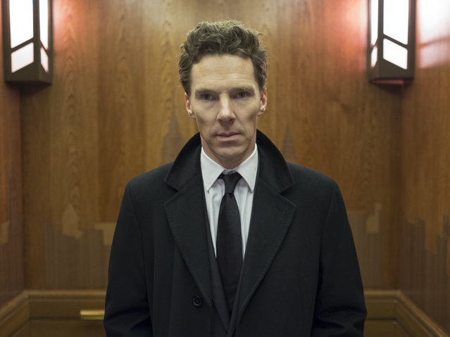 "This image released by Showtime shows Benedict Cumberbatch in a scene from the series ""Patrick Melrose"".  On Thursday, Dec. 6, 2018,  Cumberbatch was nominated for a Golden Globe award for best actor in a limited series or TV movie for his role. The 76th Golden Globe Awards will be held on Sunday, Jan. 6. (Photo by Ollie Upton/Showtime via AP Photo)"