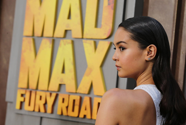 """Courtney Eaton seen at the Warner Bros. premiere of """"Mad Max: Fury Road"""" on Thursday, May 7, 2015, in Los Angeles. (Photo by Eric Charbonneau/Invision for Warner Bros./AP Images)"""