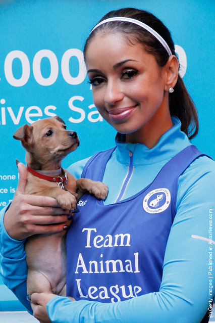 Recording artist Mya attends the North Shore Animal League America pre-race rally & adoption event at The Algonquin Hotel