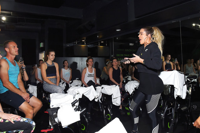 Khloe Kardashian hosts Charity Ride at Cycle House to benefit Children Hospital Los Angeles' Make March Matter Campaign on March 25, 2017 in West Hollywood, California. (Photo by Matt Winkelmeyer/Getty Images for Children's Hospital Los Angeles)